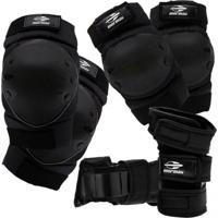 Kit De Proteção Esportivo Mormaii Skate E Patins Esportes Radicais Preto
