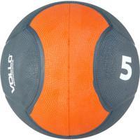 Medicine Ball Vollo Vp1005 5Kg Emborrachada Cinza/Laranja
