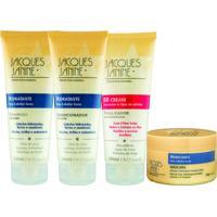 Kit De Shampoo & Condicionador + Mã¡Scara Hidratante Cabelos Jacques Janine