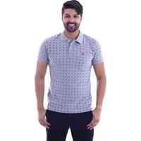 Camisa Polo Live Space Invaders Cinza Claro 338-04 - G