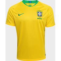 d39540f6cc Netshoes  Camisa Seleção Brasil I 2018 S N° - Torcedor Nike Masculina -  Masculino