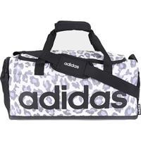 Mala Adidas Bolsa Camuflada Linear Duffel Pequena - Feminino-Cinza+Chumbo