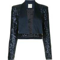 Ingie Paris Sequined Bolero Jacket - Azul