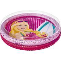 Piscina Inflável Infantil 135 Litros Barbie Fashion 7731-1 Fun