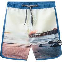 Bermuda Praia- Branca & Azul- Kids- Brandilibrandili