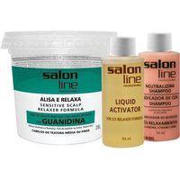 Alisante S Line Guanidina Pote Verde - Textura Média Salon Line
