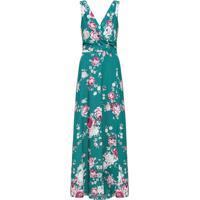 Vestido Crepe Floral Serena