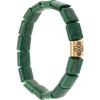 Nialaya Jewelry Pulseira Com Contas - Verde