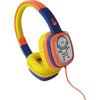 Headphone Cartoon- Azul & Laranja- 20X17X6Cm- Usnewex