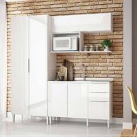 Cozinha Modulada Compacta 5 Portas E 3 Gavetas Vanguarda Branco - Urbe Móveis