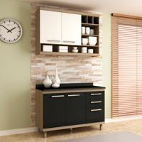 Cozinha Compacta New Vitoria 4 Pt 3 Gv Onix Com Bianco
