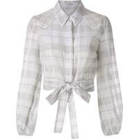 Nk Camisa Country Jin Xadrez - Branco