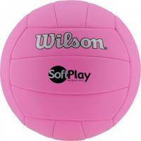 Bola De Vôlei Wilson Soft Play - Rosa