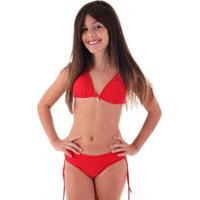 Biquíni Infantil Líquido Teen Cores - Feminino-Vermelho