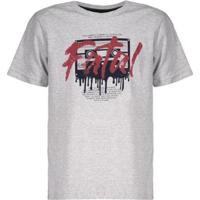 Camiseta Fatal Tape Estampada Juvenil Masculina - Masculino-Branco