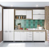 Cozinha Compacta Victoria 12 Pt 3 Gv Argila E Branco