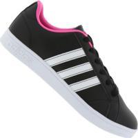 39c85a67909 Tênis Adidas Neo Vs Advantage - Feminino - Preto Rosa