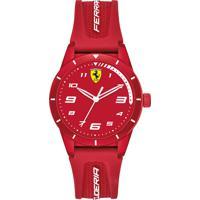 Relógio Scuderia Ferrari Infantil Borracha Vermelha - 860010