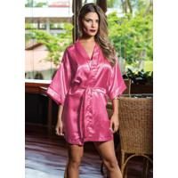 Robe Pink Com Mangas Curtas