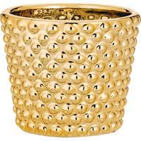 Cachepot Metalizado- Dourado- 7Xø8Cm- Martmart