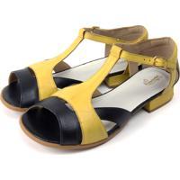 Sapato Miuzzi Preto/Amarelo