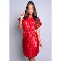 Robe Mvb Modas Noiva Roupão Cetim Personalizado Vermelho