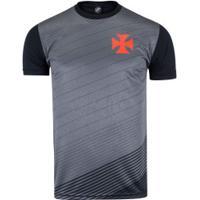Camiseta Do Vasco Da Gama Block - Masculina - Preto/Cinza Esc