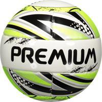 Bola Premium F8 Pró Futsal Sub 13 Branca E Verde