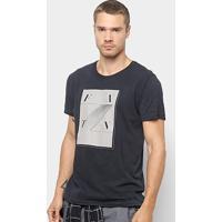 Camiseta Foxton Estampa Design Masculina - Masculino-Preto