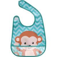 Babador Animal Fun Macaco- Azul & Marrom Claro- 30Buba Toys