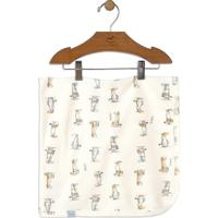 Manta Aviador- Off White & Bege Claro- 70X70Cm- Up Baby - Up Kids
