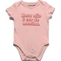 Rosa Não É Cor De Menina - Body Infantil