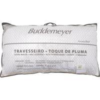Travesseiro Buddemeyer Matelassê Toque De Pluma 50X90Cm Branco