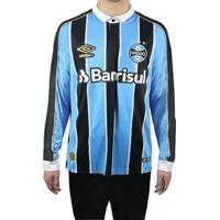 Camisa Masculina Umbro Grêmio Oficial 1 2019 Manga Longa