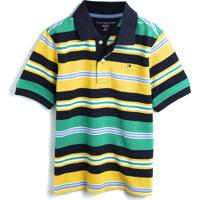 Camiseta Tommy Hilfiger Kids Menino Listrada Verde