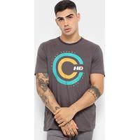 Camiseta Hd Retro Masculina - Masculino-Chumbo