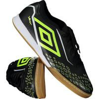 Chuteira Umbro Velox Futsal Preta E Verde