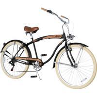Bicicleta Dropboards Psycle Sixties 18 - Aro 26 - Freios V-Brake - Câmbio Shimano - 7 Marchas - Preto
