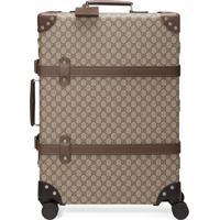 Gucci X Globe-Trotter Medium Gg Suitcase - Marrom