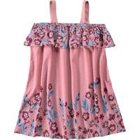 Vestido Floral - Rosa & Bordô- Malweemalwee