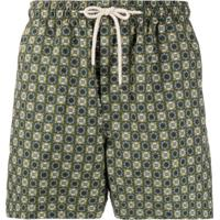 Peninsula Swimwear Short De Natação Com Estampa Isola Di Gaiola - Verde