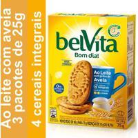 Biscoito Belvita Ao Leite Com Aveia 75G 3 Unidades