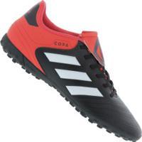 Chuteira Society Adidas Copa Tango 18.4 Tf - Adulto - Preto/Branco