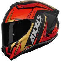 Capacete Axxis Draken Vector Vermelho E Dourado Multicolorido