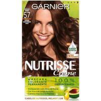 Tintura Garnier Nutrisse 57 Chocolate Puro Castanho Claro Dourado Acaju - Unissex-Incolor