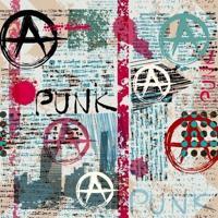 Papel De Parede Adesivo Punk