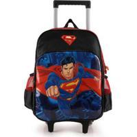 Mochilete Infantil Luxcel Super-Homem Preto