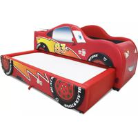 Mini Bicama Flash Slim Cama Carro Do Brasil Vermelho