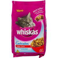 Ração Para Gatos Whiskas Gatos Castrados Sabor Carne Com 500G