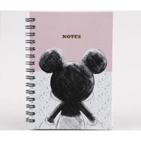 Caderno Mickey Estampado Com Pauta 21X14 Rosa
